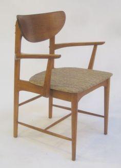Rare Danish Modern Sculpted Chair   $225