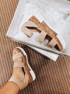 The official shoes of summer will forever be strappy sandals for me, and right now, these Steve Madden Bandi Flatform Sandals from Dillard's are so good that I had to get one in every color. Cute Sandals, Strappy Sandals, Cute Shoes, Me Too Shoes, Shoes Sandals, Shoes Sneakers, Flatform Sandals Outfit, Flats, Sock Shoes