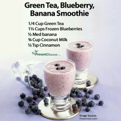 Green Tea Blueberry Banana Smoothie