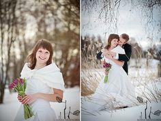 winter wedding, purple tulips, www.mariahedengren.com