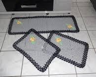 Resultado de imagem para passadeiras em croche para cozinha