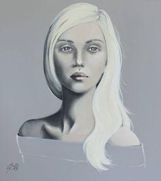 "Saatchi Art Artist Petra Kaindel; Painting, ""The platinum blonde"" #art"