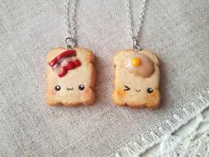 Bacon and eggs friendship necklace