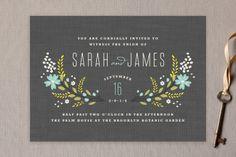 Botanical Blooms Wedding Invitations by Kristie Ke... | Minted