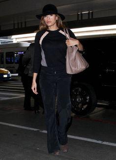 Eva Mendes - Eva Mendes Departing On A Flight At LAX