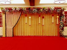 Simple Stage Decorations, Engagement Stage Decoration, Wedding Hall Decorations, Marriage Decoration, Tent Decorations, Indian Wedding Stage, Wedding Stage Design, Wedding Reception Backdrop, Wedding Mandap
