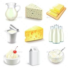 Find Dairy Products Icons Detailed Photo Realistic stock images in HD and millions of other royalty-free stock photos, illustrations and vectors in the Shutterstock collection. Thousands of new, high-quality pictures added every day. Free Vector Images, Vector Free, Healthy Prepared Meals, Turkey Burger Recipes, Food Clipart, Cute Food Drawings, Drink Icon, Food Pyramid, Food Icons