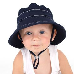 Bedhead hats - Navy Bucket Hat with Strap for girls