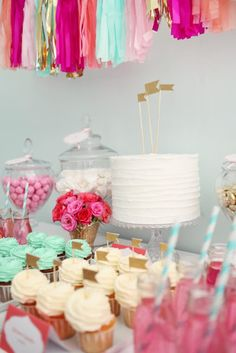 "Party Inspirations: ""Summer High"" Candy Buffet"