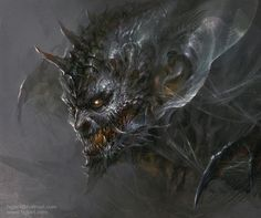 Monster head by hgjart.deviantart.com on @deviantART