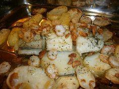La Cocina de la Abuela: BACALAO AL HORNO (Con ajo y gambas)