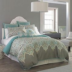 jcpenney Kashmir 2- or 3-pc. Duvet Cover Set - home and bedding (grey multicolor bedroom decor)