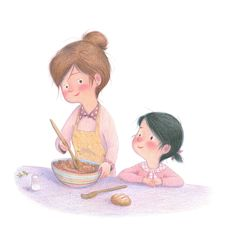 Le monde illustré de Lu Mignon Pretty Art, Cute Art, Journaling, School Clipart, Illustration Girl, Step By Step Drawing, Children And Family, My Little Girl, Food Illustrations