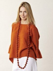 Noa Tunic in Heavy Linen | Nice, Dressing and Vineyard