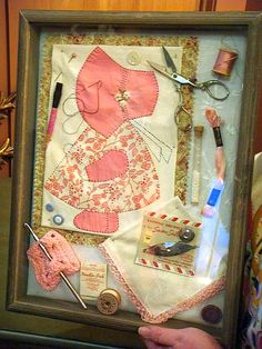 Sewing Theme Shadow Box
