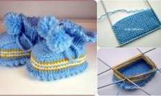 4 Skewer Baby Shoes Making Skewers, Knitted Hats, Baby Shoes, Coin Purse, Booty, Wallet, Knitting, Model, How To Make
