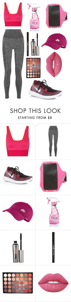 """""""Sport Style"""" by fashiondam ❤ liked on Polyvore featuring adidas, LNDR, NIKE, Moschino, Benefit, Maybelline, Morphe and Lime Crime"""