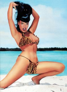 Bettie Page photographed by Bunny Yeager, Florida, 1954