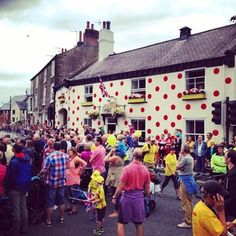 Knaresborough was named as the best dressed town in Yorkshire ahead of the Tour de France The World's Greatest, The Best, Sheffield, Yorkshire Dales, Stage, Beautiful Images, France Vs, Polka Dots, England