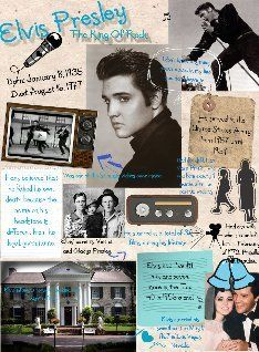 """Elvis Aaron Presley was an American musician and actor. Regarded as one of the most significant cultural icons of the 20th century, he is often referred to as """"the King of Rock and Roll"""", or simply, """"the King"""". #glogster #glogpedia #elvispresley"""