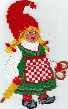 Christmas hama perler beads by Dorte Larsen Melt Beads Patterns, Beading Patterns, Christmas Perler Beads, Christmas Cross, Funny Ornaments, International Craft, Beading For Kids, Plastic Canvas Ornaments, Melting Beads