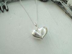 Kette+Herz+Heart+Statement+90cm+Be+Mine+Silber+von+EinzigARTigeS+auf+DaWanda.com