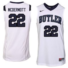 5419055ab80 Men  22 Sean McDermott Butler Bulldogs College Basketball Jerseys Sale-White