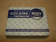 French cocaine pastille tin