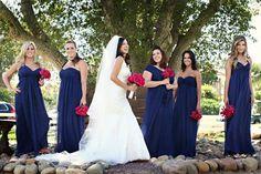 Wedding, Flowers, Pink, Dress, Bridesmaids, Blue, Events by heather ham