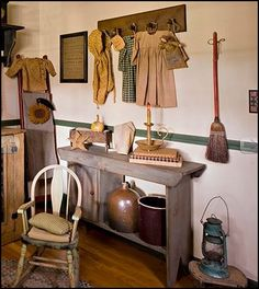 ... decorating Americana bedroom designs - Primitive Country Rustic decor