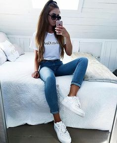 Cute Easy Outfits For School, Cute Comfy Outfits, Sporty Outfits, Cute Summer Outfits, Simple Outfits, Girl Outfits, Fashion Outfits, Tumblr Outfits, Pinterest Fashion