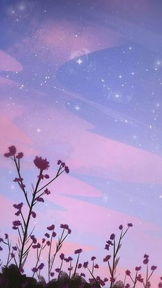 Imagen de wallpaper, flowers, and sky Wallpaper Pastel, Night Sky Wallpaper, Cool Wallpaper, Wallpaper Backgrounds, Summer Wallpaper, Wallpaper Quotes, Beach Aesthetic, Purple Aesthetic, Aesthetic Light