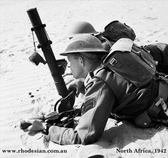 Photo of Rhodesian mortar team in North Africa in 1942