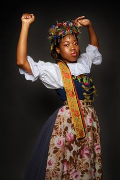 Poland: Verneille from Trinidad in Silesia costume, photographed by Piotr Sikora