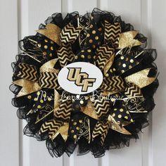 University of Central Florida Wreath UCF by MrsLanderBoutique