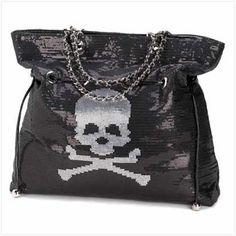 Spangled Skull Handbag