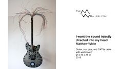 I want the sound injectly directed into my head. (2015) Matthew White, TheMWGallery.com || #ContemporaryArt #Art #Music #Culture