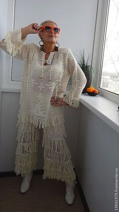 Irish lace, crochet, crochet patterns, clothing and decorations for the house, crocheted. Filet Crochet, Easy Crochet, Knit Crochet, Dress Patterns, Crochet Patterns, Crochet Costumes, Crochet World, Boho Girl, Irish Lace
