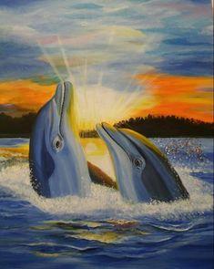 Joomla Templates, Dolphins, Oil On Canvas, Waves, Dance, Gallery, Artist, Outdoor, Facebook