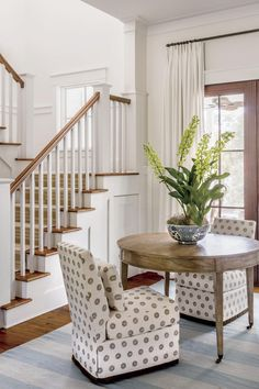 Southern Living Lowcountry Farmhouse (Plan SL-2000) | Who says a pass-through area has to be an afterthought? The floor plan's wide central hallway allows for pleasant breezes as well as lots of natural light. #homedecor #southernliving