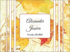 These beautiful welcome bag labels are a wonderful idea to add to any autumn wedding.