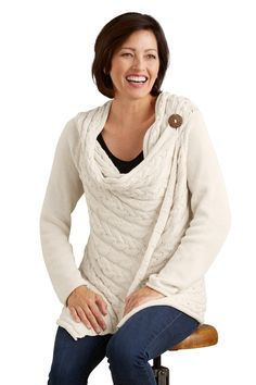Pure Handknit Fair Trade Spirit Cable Cardigan - Sale - Women
