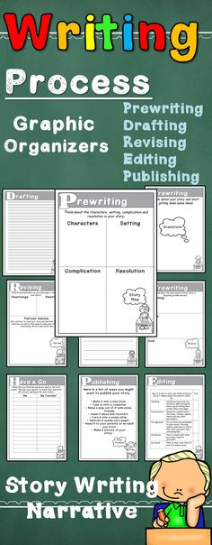 Writing Activities Templates Graphic Organizers #storywriting #teacherspayteachers