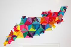 3D Geometric Wall Sculpture-sm. thinking I might like this with magazine pics