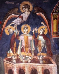 The Three Young Men – Shadrack, Mesach and Abednego – whose feast day is December 17th, were companions of Daniel the Prophet. As slaves in service to the King of Babylon they were almost certainly eunuchs, in which case their martyrdom in the fiery furnace casts light on the plight of transgender people in religious history.