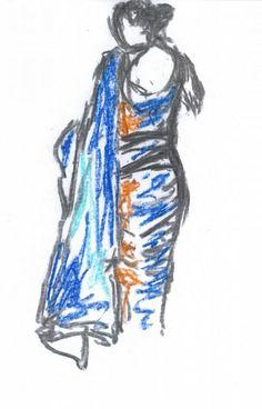 Det er en kunst fra Udstillingen Saree. Jeg brugt min barndom dage i det sydlige del af Indien og Sri Lanka. Hverdagstøj til kvinde i disse lande er Saree. Hele min omgivet kvindelige samfund havde saree. Ikke kun i de lande, men størstedelen af det sydlige asiatiske kvinder bære saree. Det kunne være deres daglige iført til brude dressing. Det er simpelthen kulturelle og traditionelle.