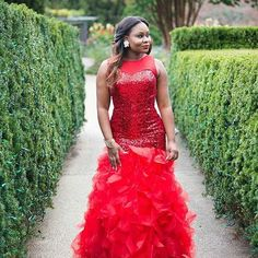 Beautiful peplum red dress.pic via @bridesandweddings #red #ruffles #dressinspiration #peplum #ruffes
