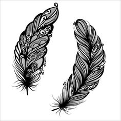 Meku designs feather on white. Go heather feather tree single embroidery designs by v stitch . Peacock feather tattoo designs the imajeg car design trend. Feather quilting designs set design includes a total of . Tribal Feather Tattoos, Feather Tattoo Meaning, Feather Tattoo Design, Tattoos With Meaning, Geometric Tattoos, Native American Feather Tattoo, Small Feather Tattoo, Feather Drawing, Feather Art