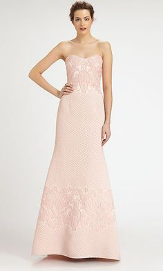 If you're easing into the idea of a colored gown, pale pink is a good place to start. | Colorful Wedding Gowns That Prove You Don't Have To Wear White