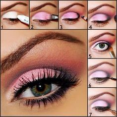 Pink eye make up tutorial !